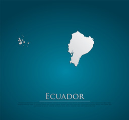 vector Ecuador Map card paper