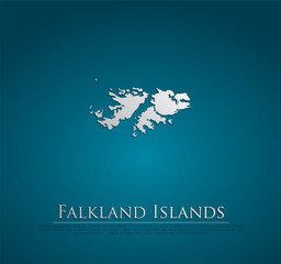 vector Falkland Islands Map card paper