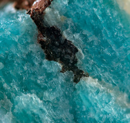 Amazonite, fantastic abstract background. Macro