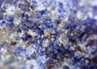 Abstract  background.  Blue crystals. Macro