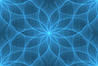 blue abstraction seamless background ice flower