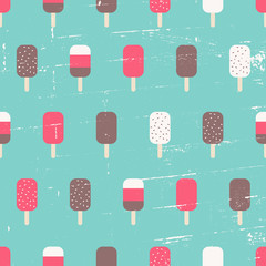 Seamless Ice Cream Background