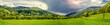 Panoramic view of mountains in springtime. Slovakia
