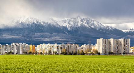 Neighborhood near High Tatras. Poprad, Slovakia