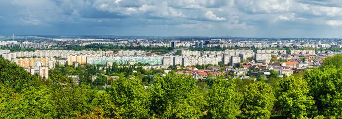 Panoramic view of neighborhood in Budapest. Hungary