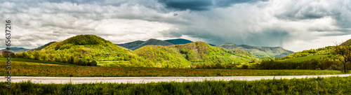 Panoramic view of mountains in springtime. Slovakia © Alex Tihonov