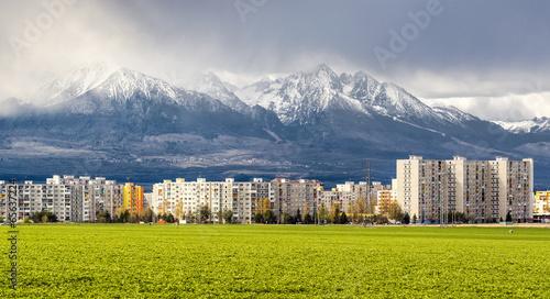 Neighborhood near High Tatras. Poprad, Slovakia © Alex Tihonov
