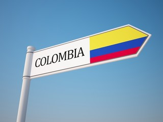 Colombia Flag Sign
