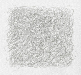 Abstract pencil scribbles background. Paper texture.