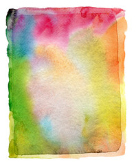 Abstract watercolor and acrylic painted background. Paper textur