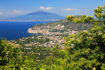 Vesuvius Volcano and the Amalfi Coast, Italy, Europe