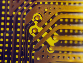 Background from electronic components. Macro. Extreme closeup