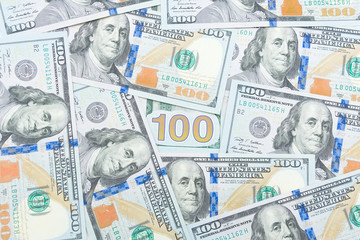 background of $ 100 banknotes