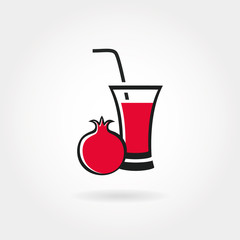 Pomegranate juice icon