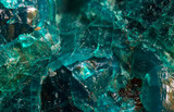 Chrysocolla is a hydrated copper silicate mineral. Macro