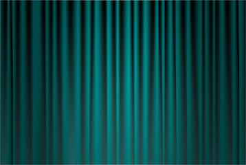 dark green curtain