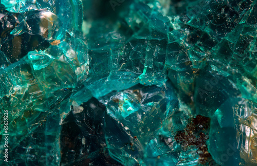 Poster Edelsteen Chrysocolla is a hydrated copper silicate mineral. Macro