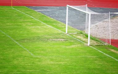 Soccer goal on stadium