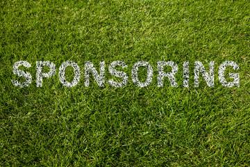 sponsoring text auf rasen