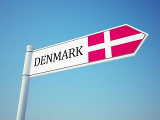 Denmark Flag Sign