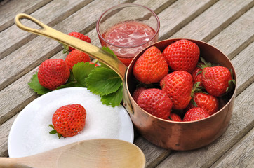 fraises pour confiture
