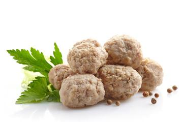 fresh juicy meatballs