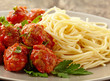 Meatballs with tomato sauce and spaghetti