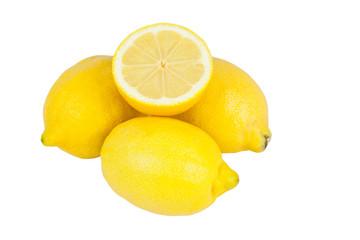 Zitronen freigestellt