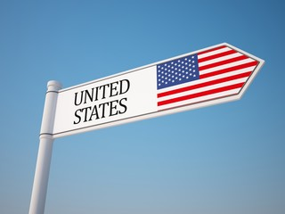 United States Flag Sign