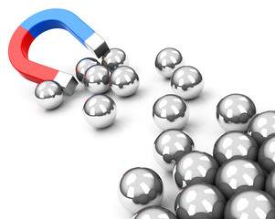 magnet and spheres