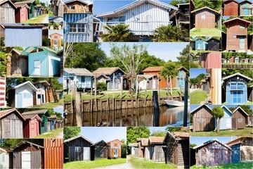 collage de maisons de pecheurs