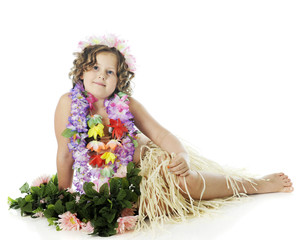 Young, Relaxed Hula Dancer