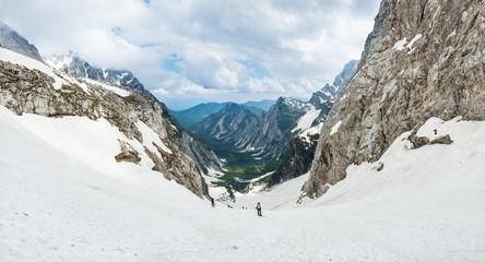 Panorama of alpine valley