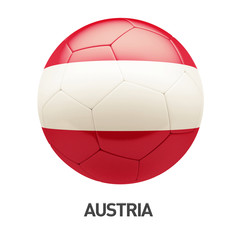 Austria Flag Soccer Icon