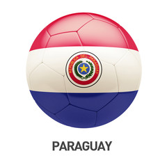 Paraguay Flag Soccer Icon