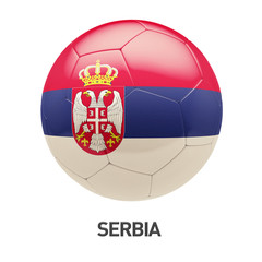 Serbia Flag Soccer Icon