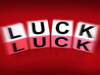 Luck Blocks Displays Fortune Destiny or Luckiness