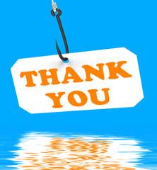 Thank You On Hook Displays Gratefulness And Gratitude