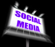 Social Media Sign Displays Internet Communication and Networking