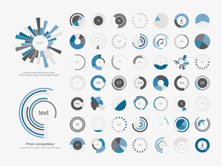 Infographic Elements.Pie chart set icon.