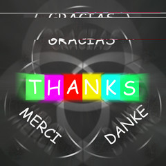 Gracias Merci and Danke Displays Thanks in Foreign Languages