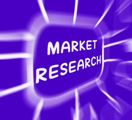 Market Research Diagram Displays Researching Consumer Demand And