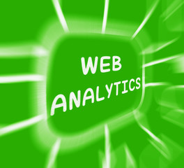 Web Analytics Diagram Displays Collection And Analysis Of Online