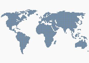 Noktalarla Dünya Haritası  ( 3 )