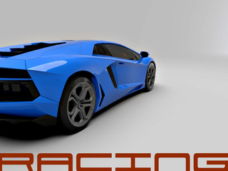 A CG render of a generic luxury sports car Blue