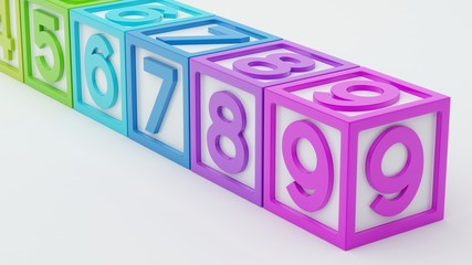 Box Number Toy