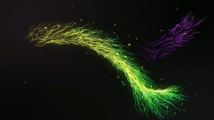Colorful Wave Electricity looping animation