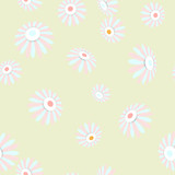 Bright seamless banner with flowers. EPS 10