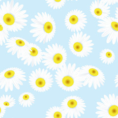 Seamless texture with flowers. EPS 10