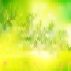 Green blurred background and sunlight. EPS 10
